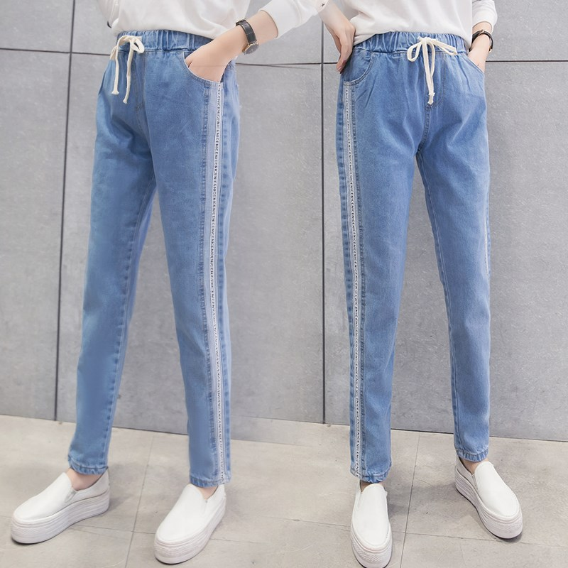 Women's Big Kid Jeans Girls 12-15-Year-Old Spring And Autumn 2018 New Style 13 Korean-style 14 Junior High School Students 16 Lo