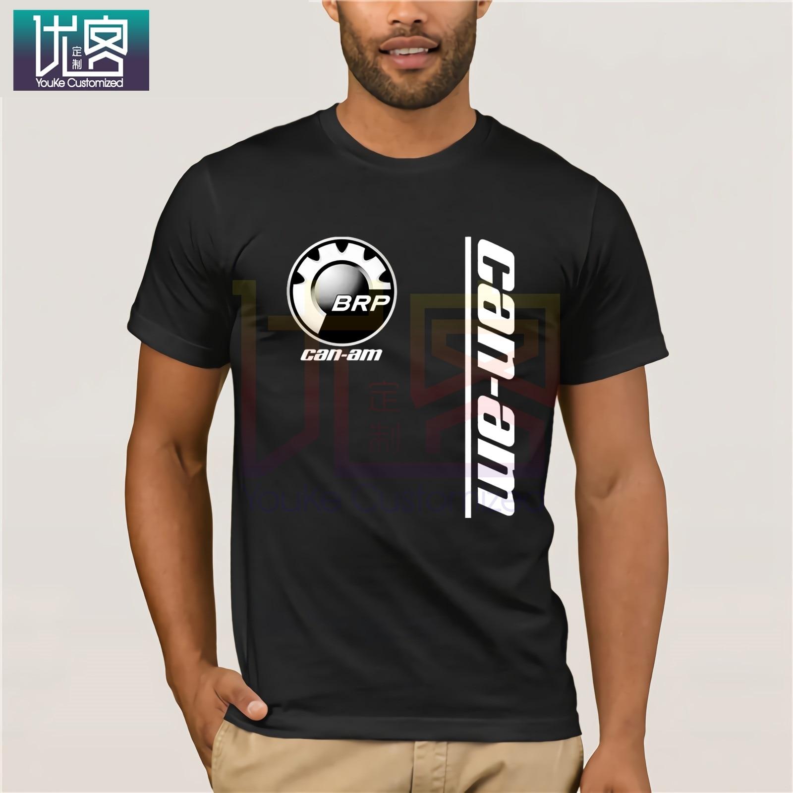 POPULAR T Shirt CAN AM Logo BRP ATV Renegade UTV Outlander SIZES USA S - 3XL Clothes Popular T-Shirt Crewneck 100% Cotton Tees