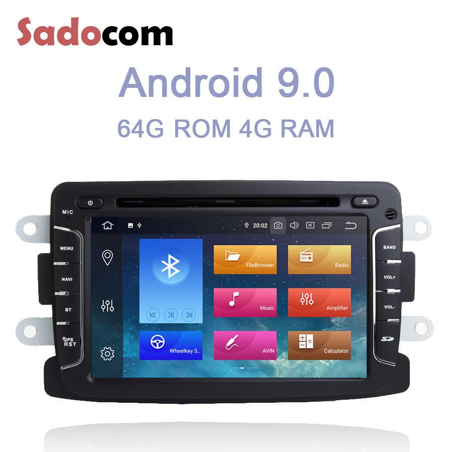 DSP ips 1 din Android 9,0 4 Гб ОЗУ + 64 Гб ПЗУ автомобильный dvd-плеер 8 ядерный RDS Авторадио для Dacia Renault Duster Logan Sandero LADA Xray2