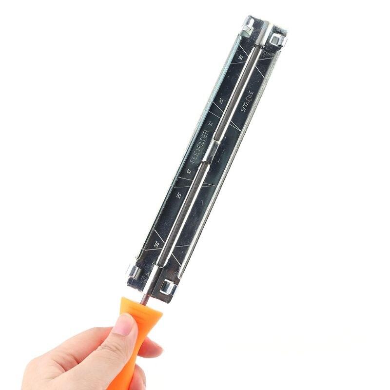 Grinder Chainsaw File Holder Sharpener Files Round Saw Chain Teeth Blade Parts