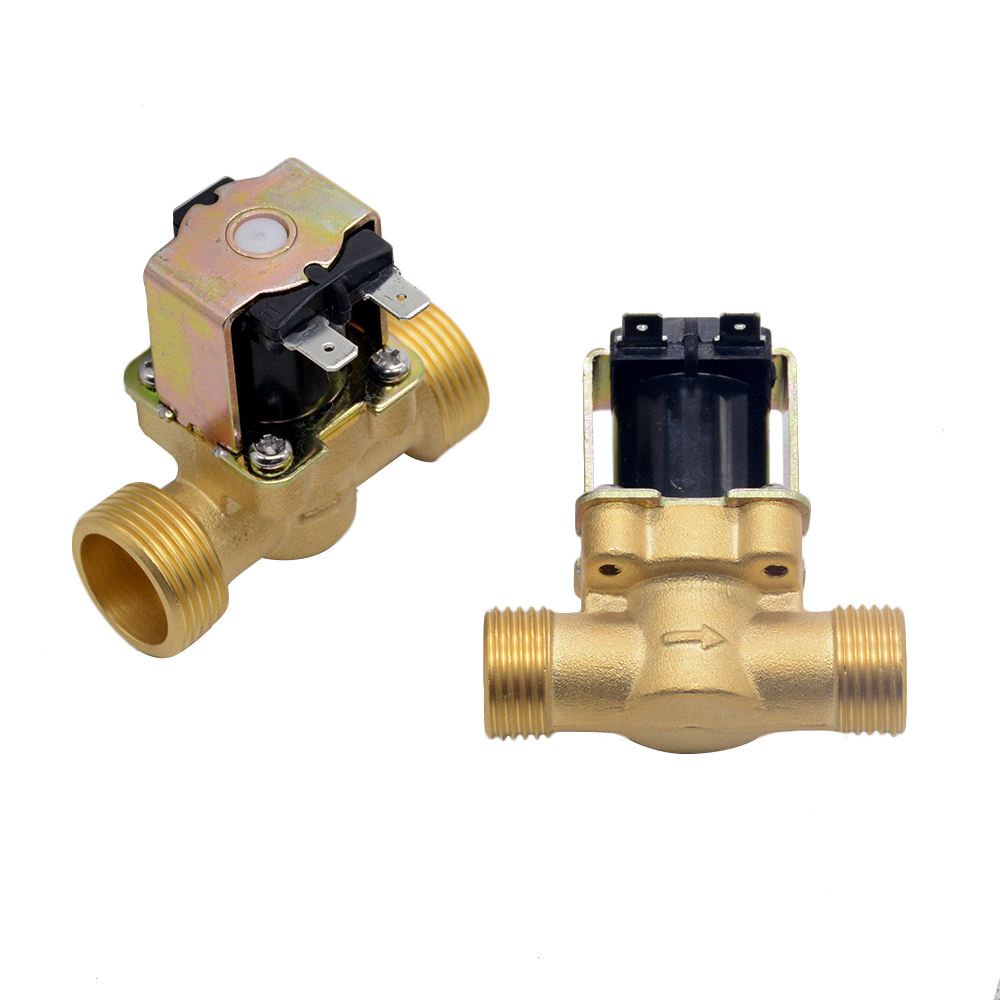 "3/4"" 1/2"" DC 24V AC 220V DC12V Electric Solenoid Magnetic Valve Normally Closed Brass For Water Control image"
