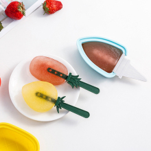 Ice Molds Popsicle Mold Cream Fruit Summer Creative Grape Pineapple Silicone Cube Set