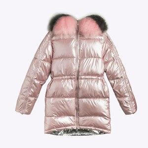 Image 5 - ผู้หญิงเสื้อคลุมยาวลงเสื้อโค้ท2020ฤดูหนาวหนาลงเสื้อแจ็คเก็ตกระเป๋าWarm Outwearเงินขนาดใหญ่หญิง