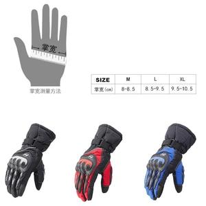 Image 5 - Распродажа, новые мотоциклетные перчатки, зимние теплые водонепроницаемые перчатки для спорта на открытом воздухе, лыжного спорта, мотоцикла, мотокросса, гоночного велосипеда