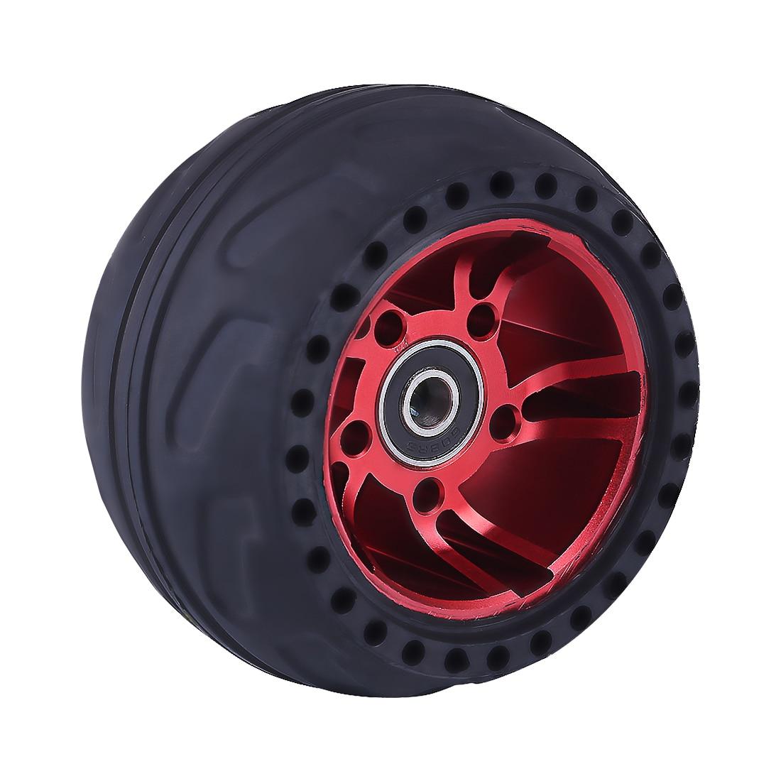 105LMH All Terrain Wheel Rubber Tire - Red