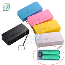 цена на 2X18650 USB Power Bank Battery Charger Case DIY Box 5600mAh For iPhone For Smart Phone MP3 Electronic Mobile Charging Box