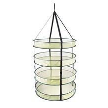 4 Layers Hanging Herb Drying Net Multiple Layers Folding Dry Rack Opening Shape Dried Mesh for Herbs Flowers Buds Plants Herb Dr(China)
