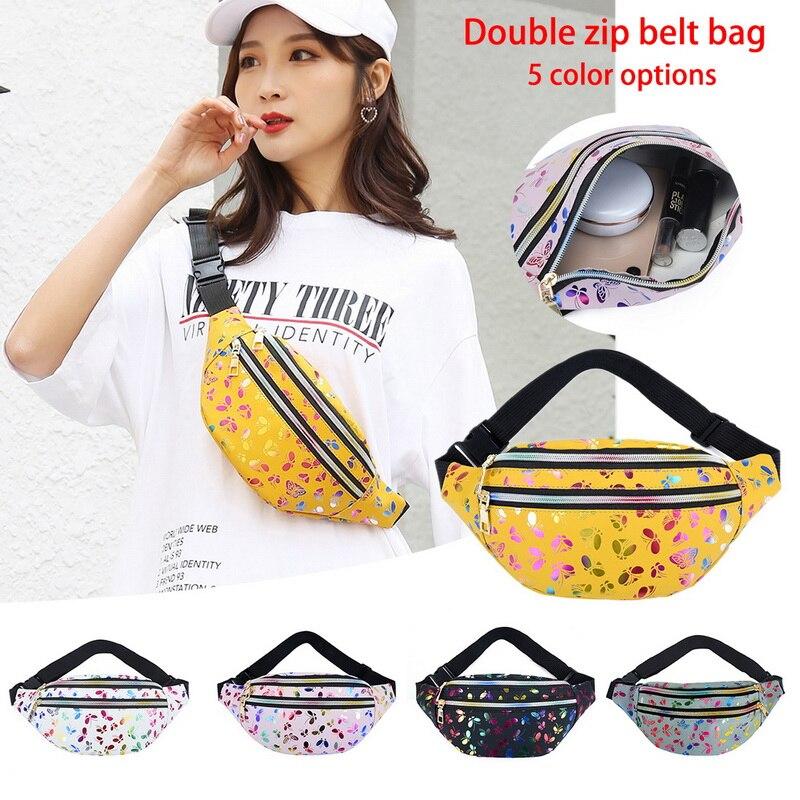 Waist Bag Designer Zipper Chest Bag Sport Travel Girl Waist Belt Bags Fashion Phone Waist Pack For Women Cute Bear Bags Laser
