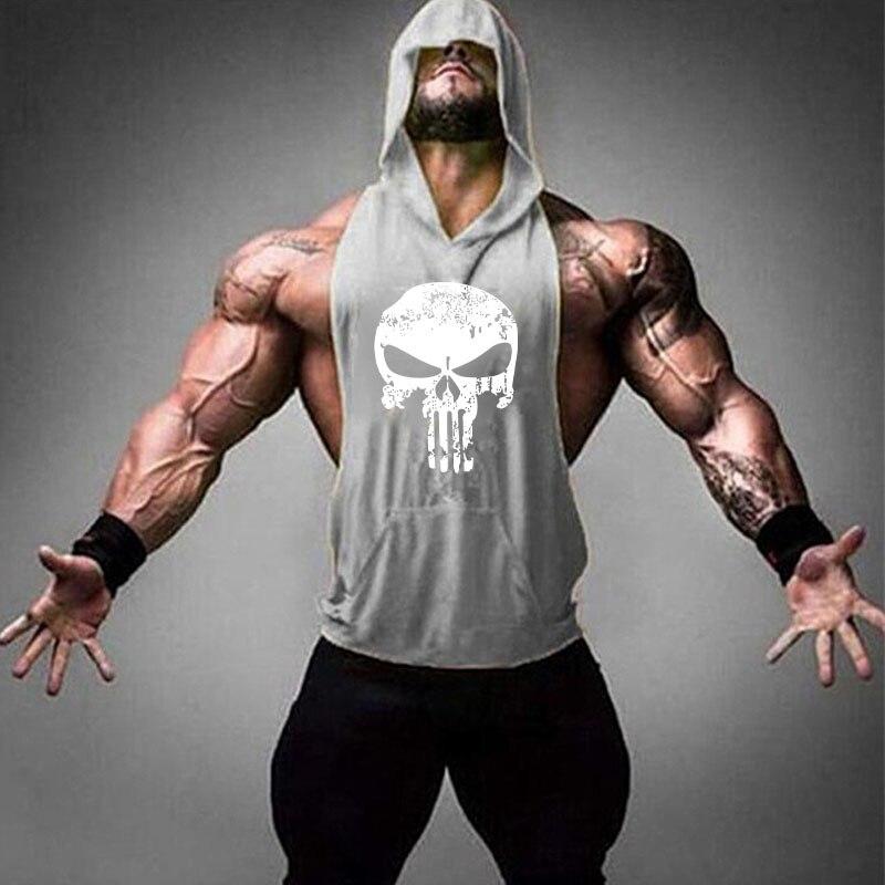 Bodybuilding Stringer 2019 Mens Muscle Hoodies Fitness Bodybuilding Sleeveless Gym   Tank     Top   Vest