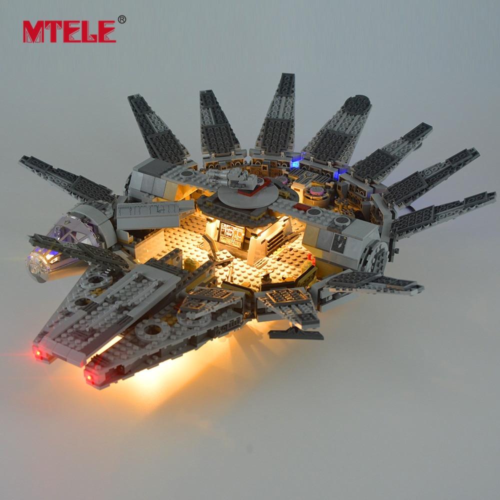 MTELE Led Light Kit For 75105 Star War The Force Awakens Millennium Building Blocks Falcon Lighting Set Compatible With 05007