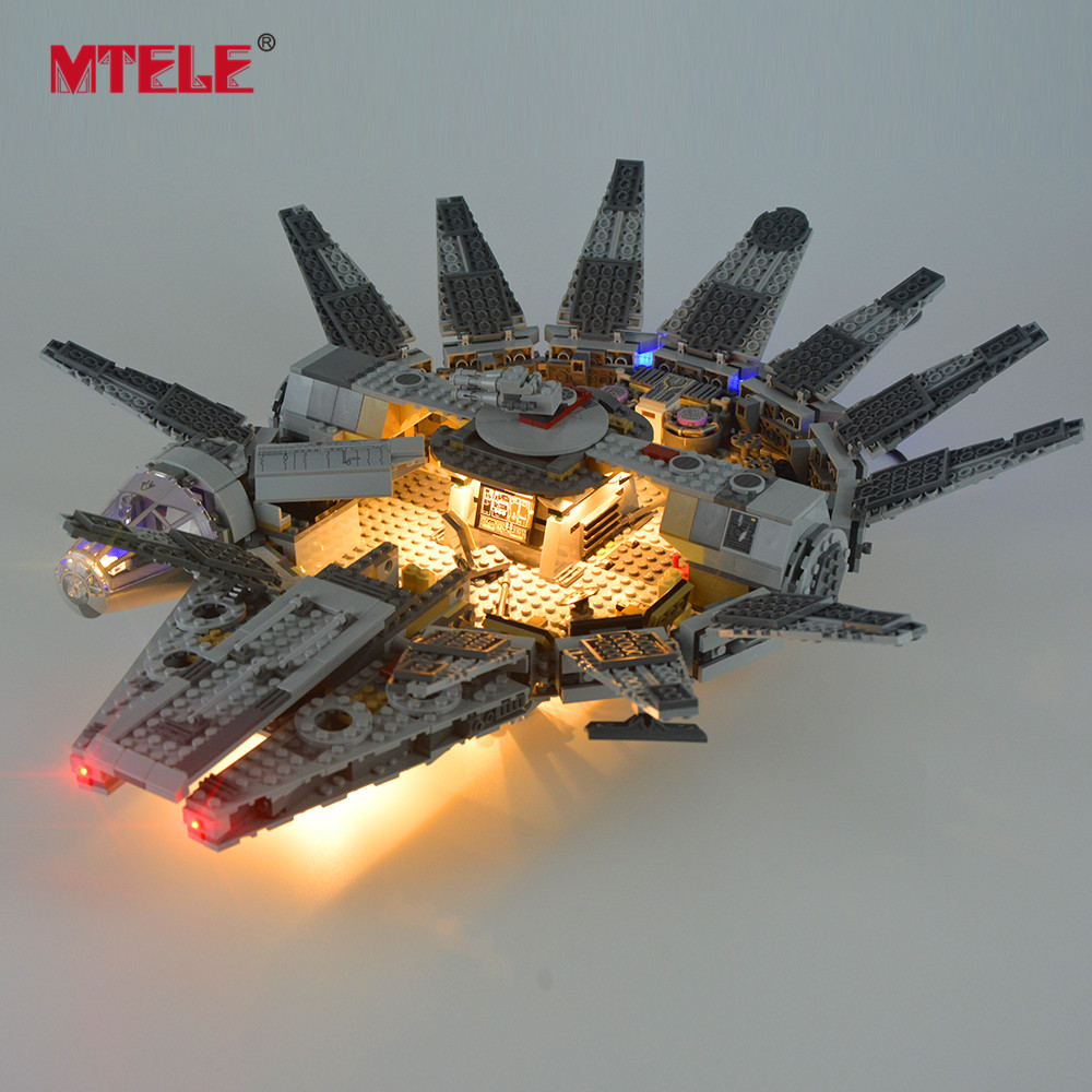MTELE Led Light Kit For 75105 The Force Awakens Millennium Building Blocks Falcon Lighting Set Compatible With Model 05007
