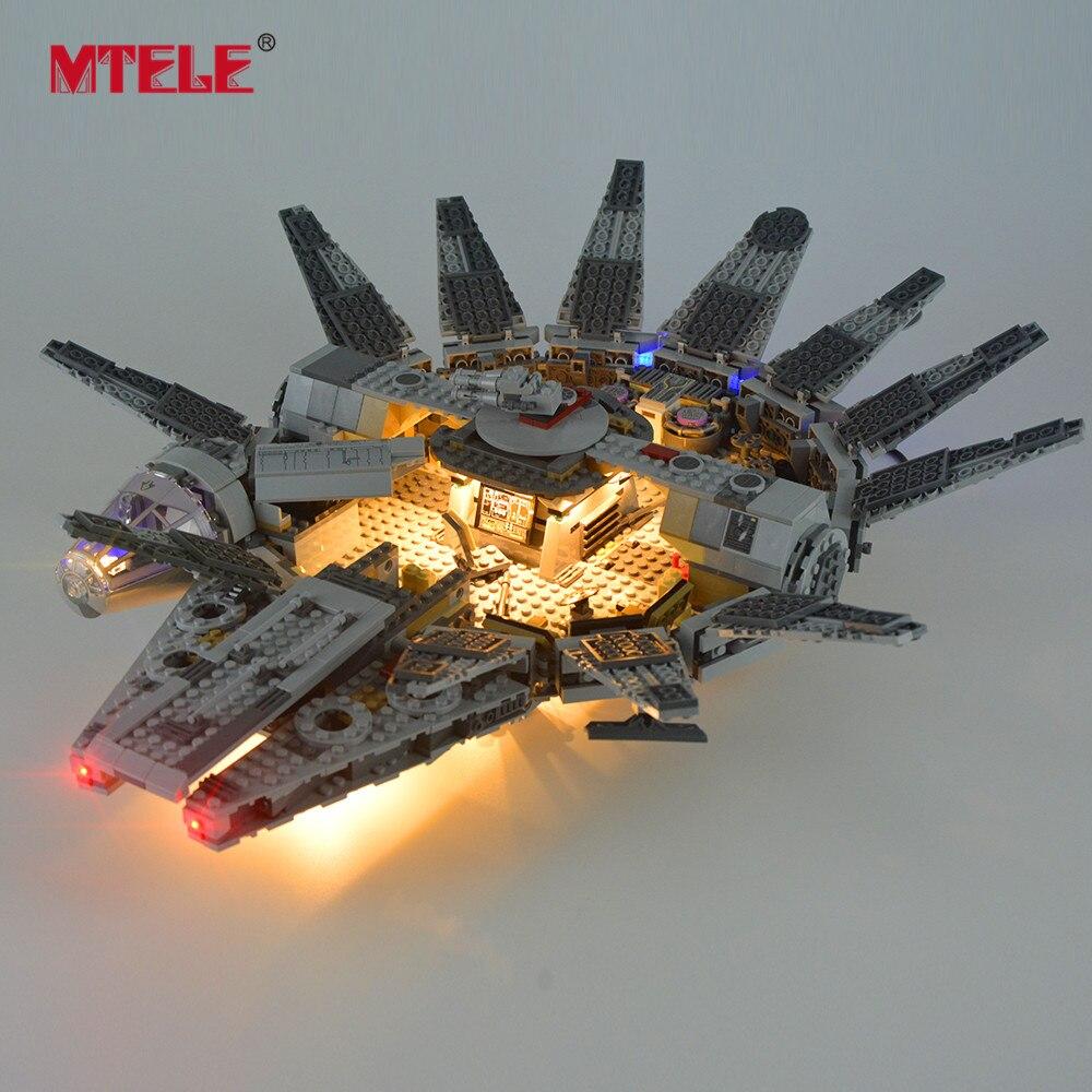 MTELE lumière LED pour la Force éveille les blocs de construction du millénaire ensemble d'éclairage Falcon Compatible avec le modèle 75105