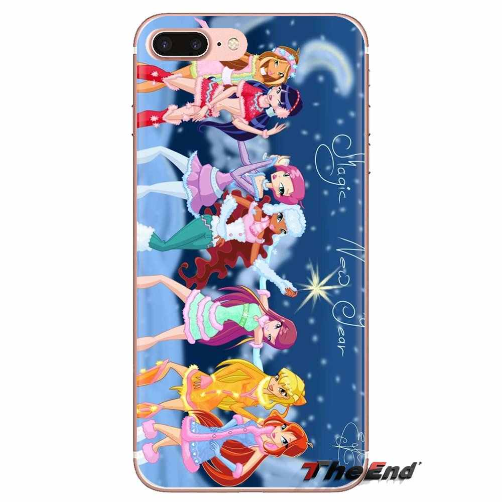 Winx Club Art Voor Samsung Galaxy A3 A5 A7 A9 A8 Ster A6 Plus 2018 2015 2016 2017 Transparante Zachte shell Covers