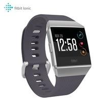 Умные часы Fitbit с ионным GPS, NFC, черный/серый, один размер (S и L ремешки входят в комплект), приложение для спорта, осуществите платеж со встроенн...