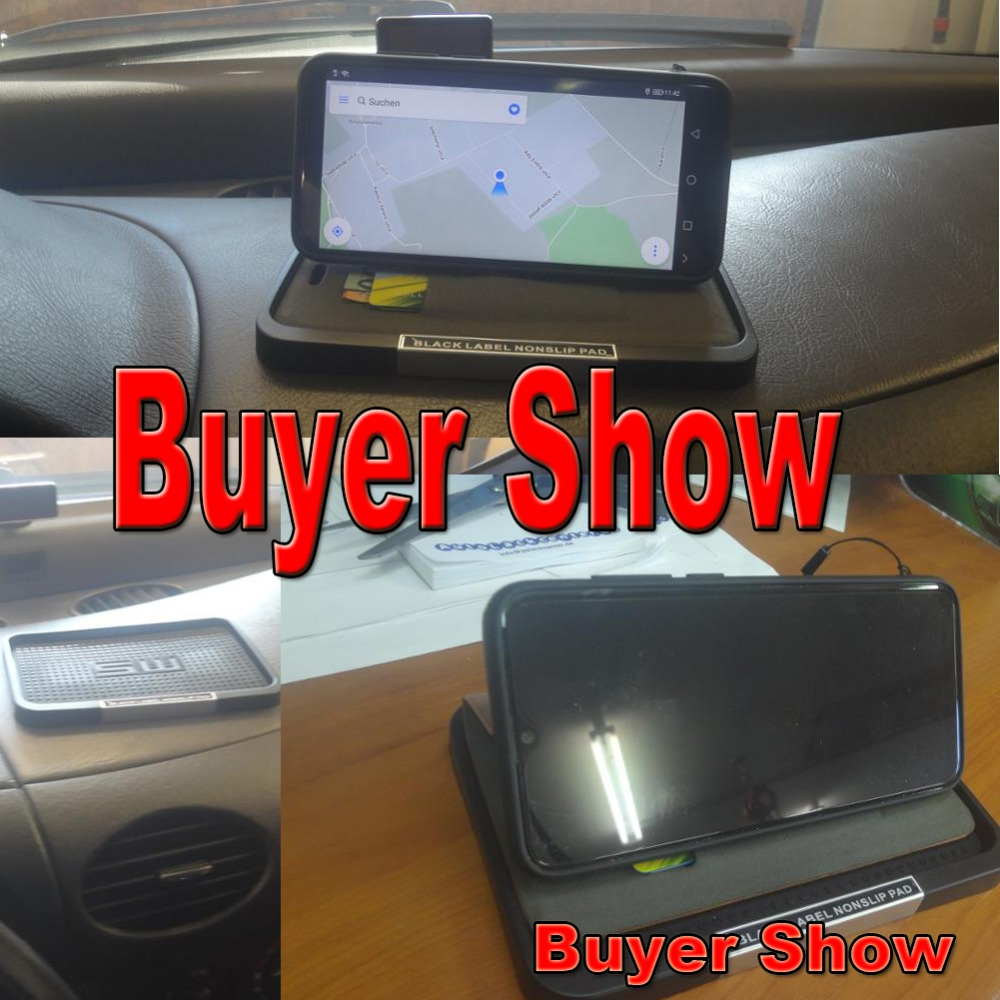 Aiming Car Interior Black Silicone Anti-Slip Dashboard Sticky Pad Non Slip Mat Phone Coin Sunglass Holder