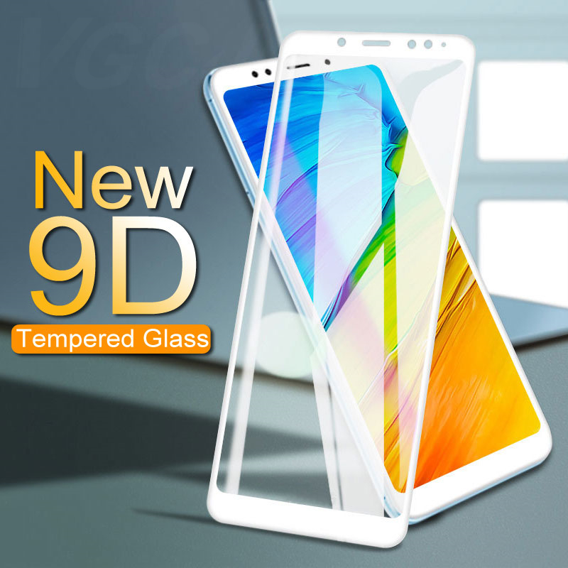 9D Full Cover Tempered Glass For Xiaomi Redmi 5 Plus 5 5A 6A S2 Go Screen Protector For Redmi Note 5 6 Pro Protective Glass Film