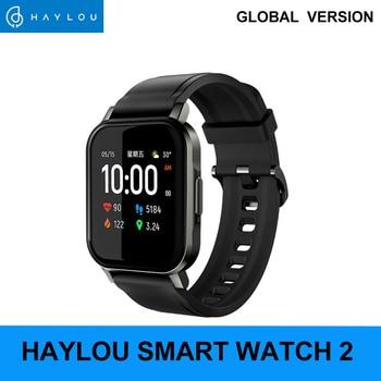 Haylou LS02 Smart Watch Sport круглый металлический чехол монитор сердечного ритма во время сна IP68 Водонепроницаемый iOS Android глобальная версия