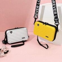 LOVEVOOK bolso de mano de mujer de moda bandolera para damas 2019 mini maleta forma bolsa de maquillaje para viajes con solapa multifuncional