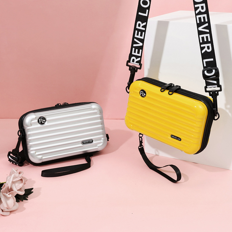 LOVEVOOK Women Handbag Fashion Crossbody Bags For Ladies 2019 Mini Suitcase Shape Make Up Bag For Travel Multifunctional Flap