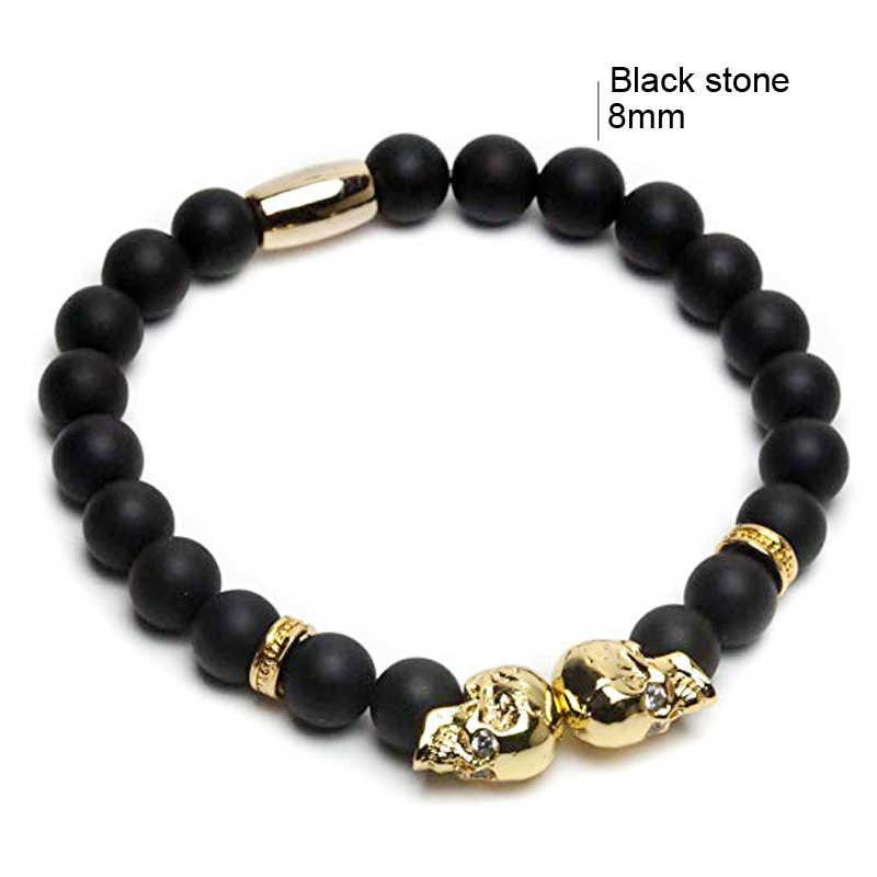 Браслеты Viking корейский Ретро браслет с подвесками для женщин и мужчин натуральный бусина из лавового камня золотой браслет аксессуары корейские индийские ювелирные изделия
