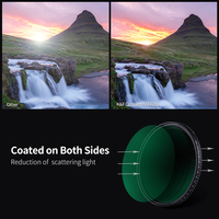 K&F Concept ND8-ND2000 ND Filter Camera Lense Variable Neutral Density Multi-Resistant Coating 49mm 52mm 58mm 62mm 67mm 77mm
