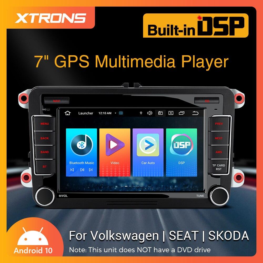 XTRONS 7 дюймов сенсорный экран Экран Android 10,0 автомобиль радио стерео Мультимедийный DVD плеер GPS для Volkswagen / SEAT / Skoda OCTAVIA III