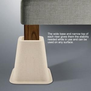 Image 3 - の模造磁器家具 Raisers セット 4 ベッドライザー椅子デスクテーブル木の床足プロテクター家具ライザー