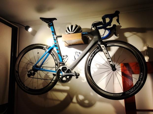 Marquesina de madera montada en pared para bicicleta estante de estacionamiento para bicicleta de monta a