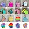 New Colorful Simple Dimple Messenger Bag Fidget Toys Push Bubble Antistress Children Toy Pop Its Keychain Wallet Wholesale