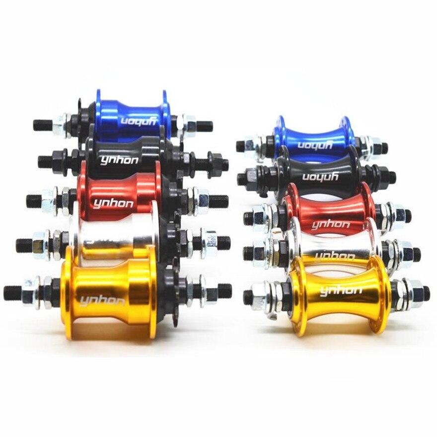 Ynhon 14-inch Folding Bike Wheels Hub 20-Hole V-brake 4 Sealed Bearing 9T Small Flywheel Freewheel 412 Wheelset Bicycle Hub(China)