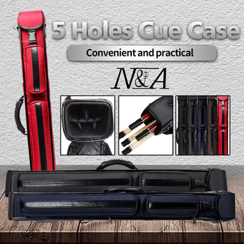 NA Billiard Cue Case Nylon Material 5 Holes 5 Colors Carrying Bag Stick Case Durable Fit 2 Butt 3 Shafts Billiard  Accessories