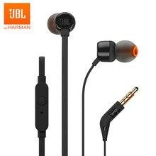 JBL – Écouteurs avec fil, 3,5mm filaire, musique basse profonde, oreillettes de sport, commandes en ligne, mains libres, avec microphone, T110