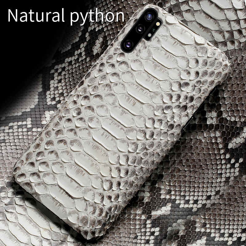 Genuine Python Leather phone case for Samsung galaxy Note 10 Note 10 Pro A50 A70 A30 A8 2018 S10 S7 S8 S9 Plus Snakeskins cover