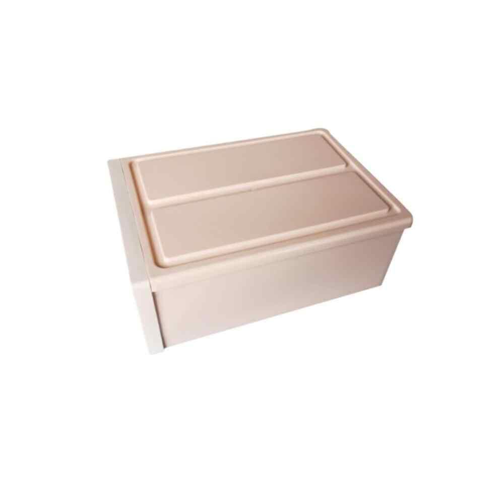 1PC אחסון מיכל מגירת פלסטיק Muji סגנון מינימליסטי Stackable שימושי באיכות גבוהה PP אחסון מגירת L * 5