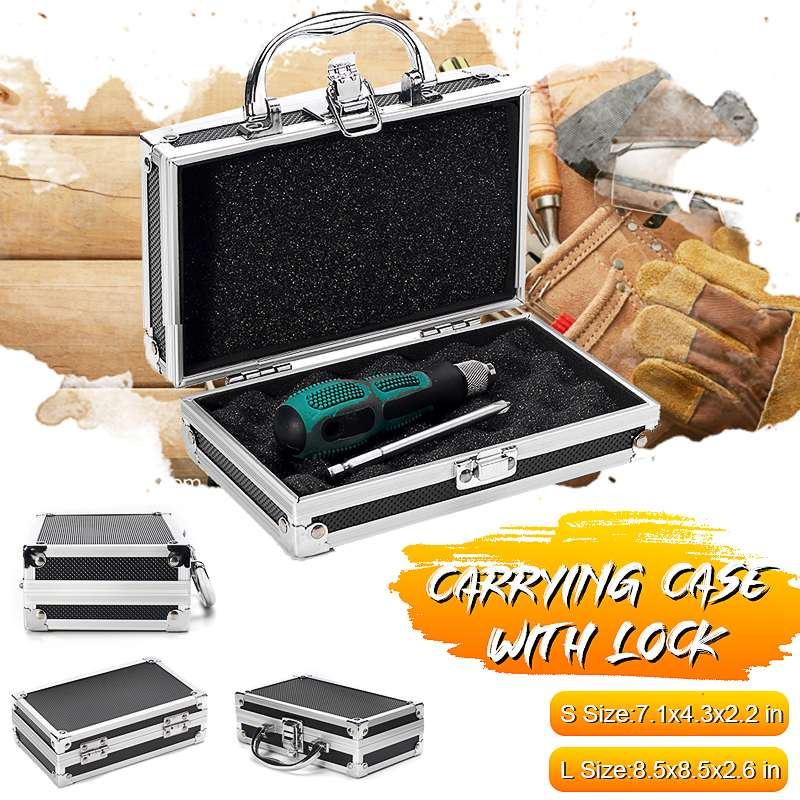 Travel Sponge Inside Tool Box Storage Magic Props Carry Case Hard Carry Lightweight Portable Aluminum Alloy Sturdy Organiser