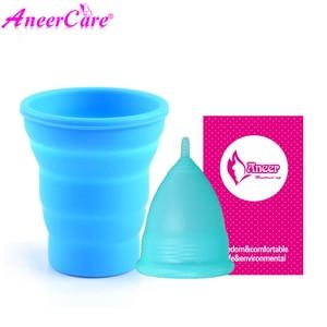 Image 3 - Coletor Menstrual 2Pcs Medical Grade Silicone Hygiene Menstrual Cups Lady Menstrual Cup Mestrual Aneercare Coupe Menstruell S+L