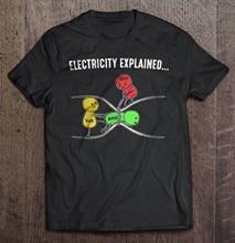 Camiseta de moda masculina de algodão da marca teesshirt-lei de ohm version2
