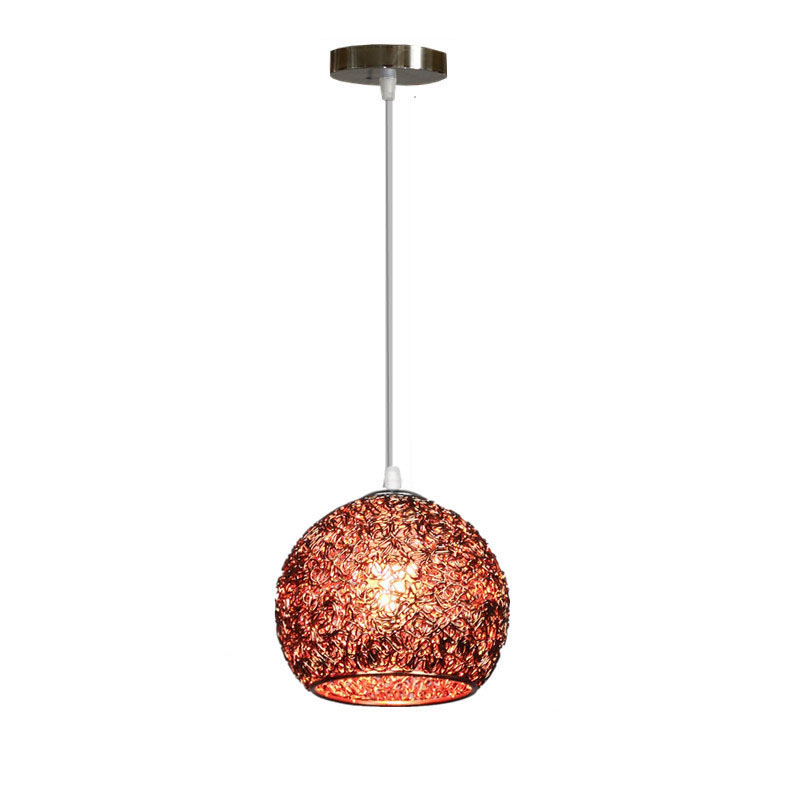 E27 Aluminium Alloy Ball LED Hanging Ceiling Pendant Light Holder Lamp Base