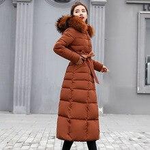 Новое поступление, Модная приталенная женская зимняя куртка с хлопковой подкладкой, теплое плотное Женское пальто, длинные пальто, парка для женщин, куртки для женщин