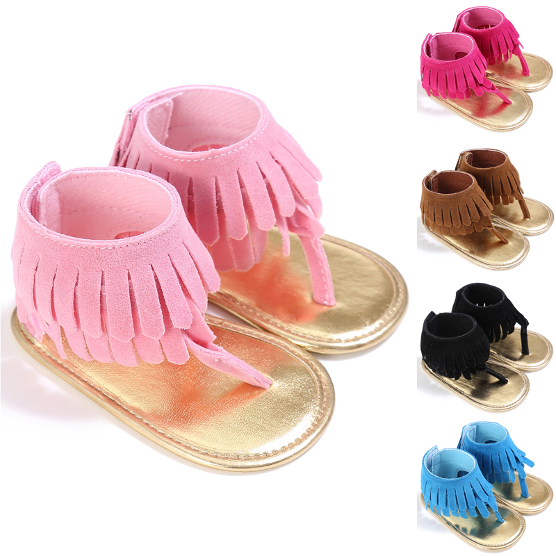 Cute Infant Girls Summer Sandals Toddler Baby Princess Soft Sole Shoes 3 Sizes Fashion Tassel Girls Sandals