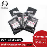 5000PCS/lot wholesale Rubber NBR Sealing O-Ring 1mm OD4/4.5/5/6/6.5/7/7.5/8/9/9.5/10mm Seal Nitrile Gasket Oil Rings Washer