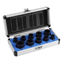 10 teile/satz Beschädigt Schrauben Muttern Schrauben Remover Extractor Removal Tools Set (9-19mm) threading Werkzeug Kit Schwarz Muttern Mit 4 Arten