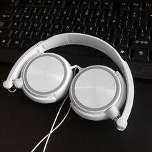 חמוד Wired אוזניות עבור IPhone Xiaomi Sony Huawei מחשב עם מיקרופון על אוזן אוזניות בס HiFi קול המוזיקה סטריאו אוזניות