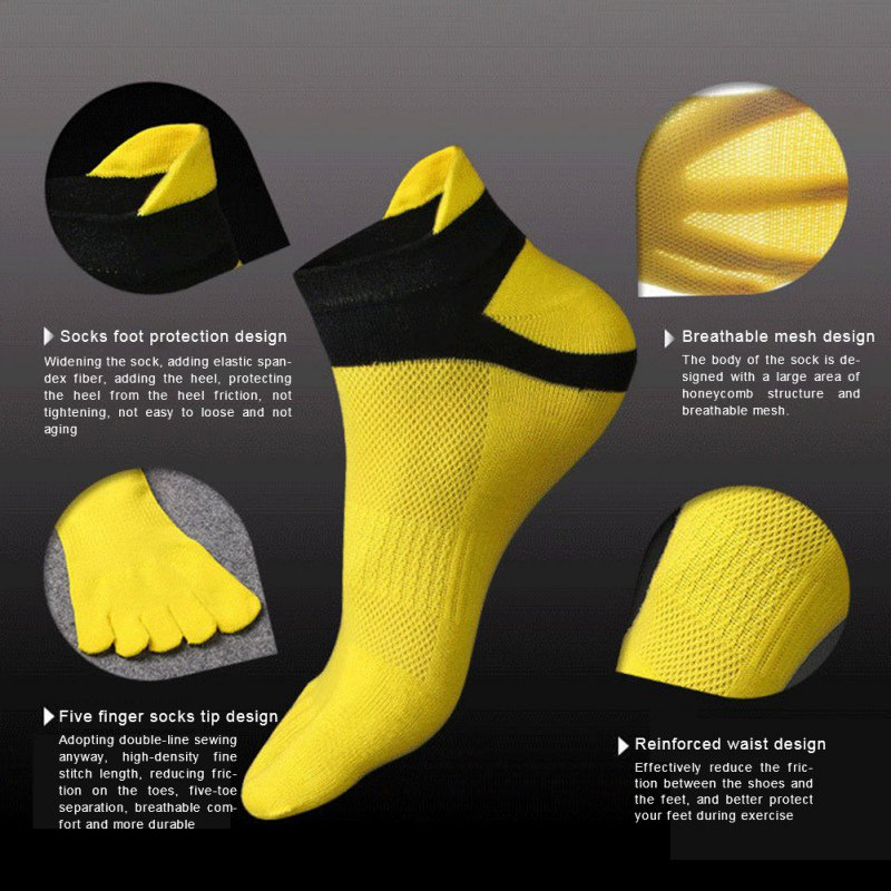 running - 1Pairs 38-43 Outdoor Men's socks Breathable Cotton Toe Socks Sports Jogging cycling running 5 Finger Toe slipper sock