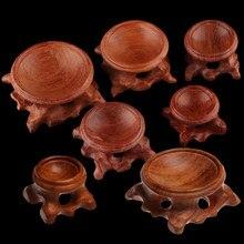 1pc rétro acide branche bois présentoir socle pour cristal porte-balle sphère Globe pierre Miniature maison Collection Durable décor