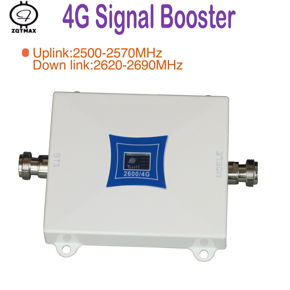 ZQTMAX 4G Cell Phone Signal Booster FDD LTE 2600 Repeater Cellular Amplifier (Band 7)