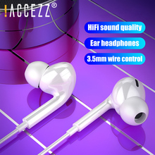 !ACCEZZ 3.5mm Jack In-Ear Earphone For iPhone 5 6 iPad Xiaomi Samsung Universal HIFI Sport Earbuds Wired Control with Microphone accezz 3 5mm jack in ear earphone for iphone 5 6 ipad xiaomi samsung universal hifi sport earbuds wired control with microphone