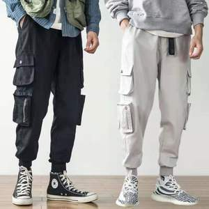 Image 2 - 2020 Hot Sale Men Hip Hop Patchwork Sweatpants Joggers trousers Casual Drawstring Sportwear Pants Male hiphop personality pants