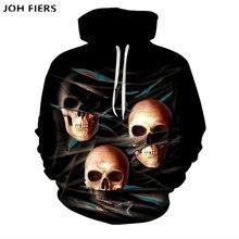 2019 Men Skull Hoodies Hip Hop Hoodie Punk Mens Clothing RockGun 3D hoodies Sweatshirts Male Streetwear Anime