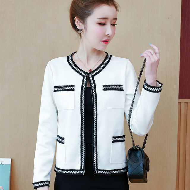 Women's Jackets 2021 Fashion  Autumn Jacket Women Long Sleeve White Coat Women Jacekts Coats And Jackets Women B888 2